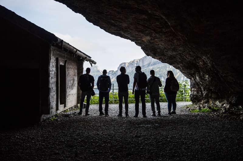Wortspiel in der Wildkirchli-Höhle