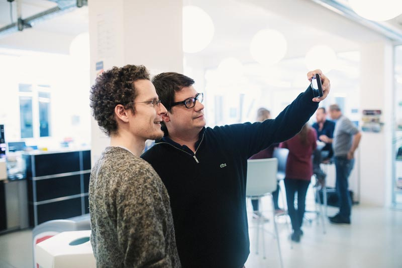 Mario Colombo (what.digital) und Alain Veuve (Accounto)