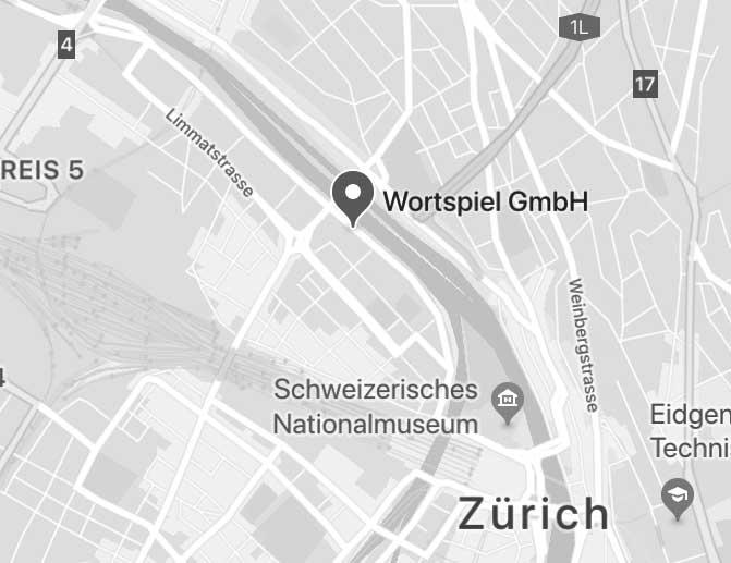 Wortspiel GmbH bei Google Maps