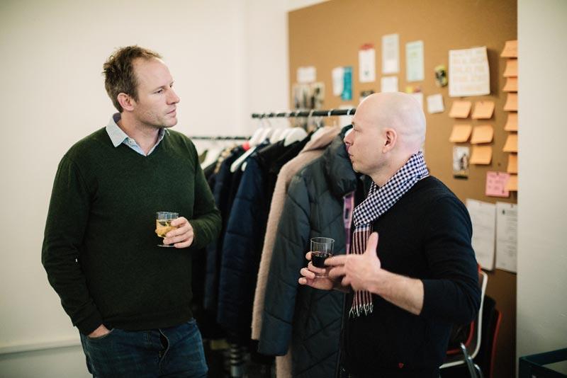 David Brunnschweiler (Swisscom) and David Butler (Startup Grind)